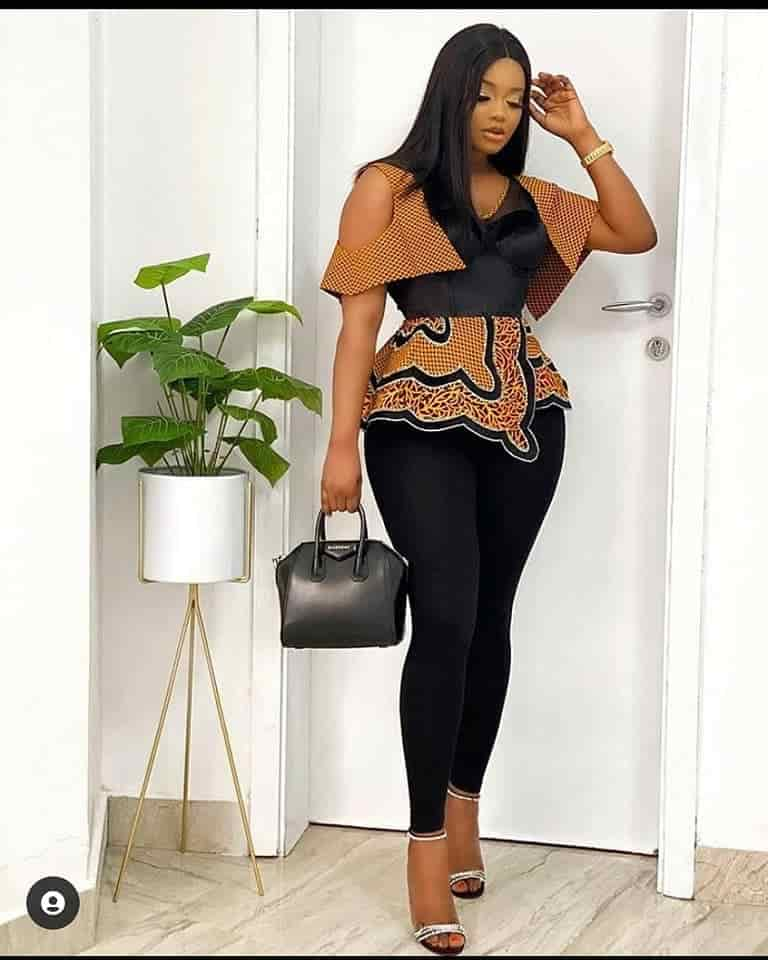 10 PHOTOS Eye-Catching Ankara Tops For Lovely Ladies - Nice-Looking African Fashion Tops 2021