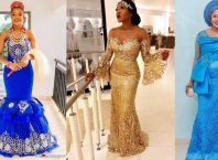 Glamorous African Fashion Designers – Asoebi Dress Styles For Church, Wedding & Engagement
