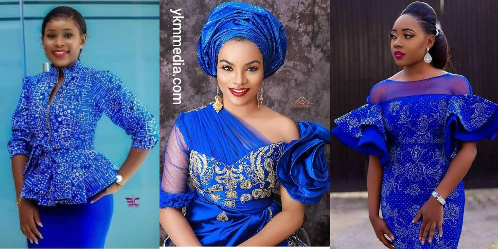 Blue Color Fashion Designs - Creative And Artful African Wear