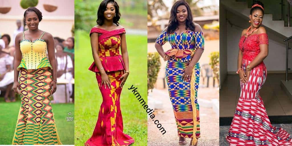 Dresses For Church Wedding - Glorious And Vibrant Kente Designs