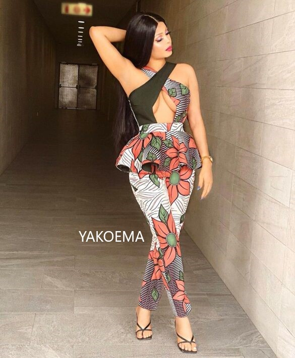 Simple Pant Suit Dress For Ladies. Pretty Ankara Fashions, The Best Vibes