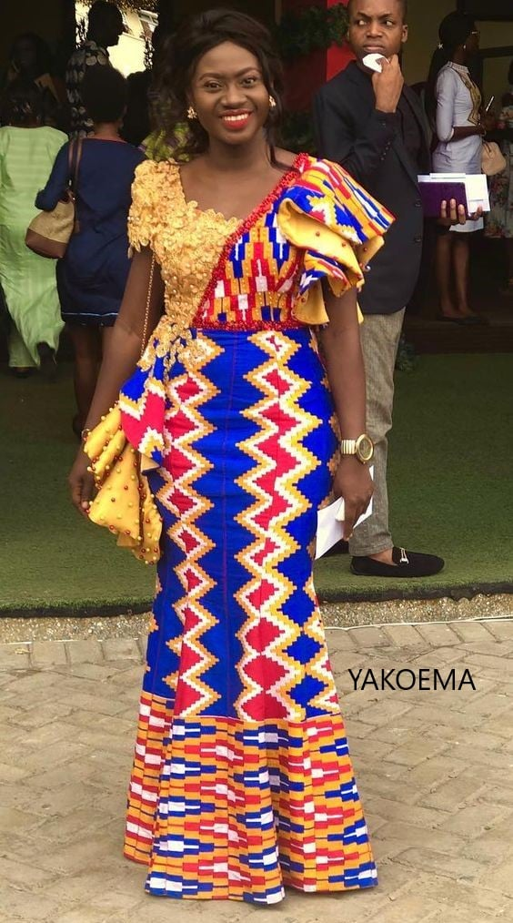 Stupendous Ghanaian Kente Fashion Art -The New Face Of The Designers Creativity