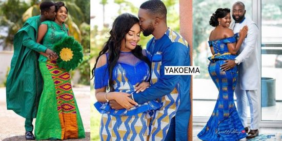Well-Crafted Ghanaian Kente Fashion Design For Couples - Nice Weaving Clothing Arts